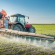 Tractor spraying pesticides — Stock Photo #50150483