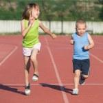 Children running — Stock Photo