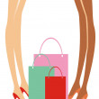 Stock Vector: Shopping ladies
