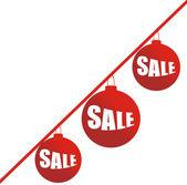 Christmas sale ball — Stock Vector