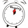 Time of shopping — Image vectorielle