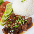 Thai pork stew with Steamed rice — Stock Photo
