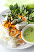 Thai Noodle Salad with fish. — Stock Photo