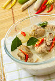 Thai chicken galangal soup — Stock Photo