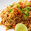 Spaghetti Tom Yum Kung — Stock Photo