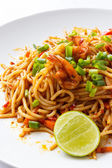 Spaghetti Tom Yum Kung — Stock Photo