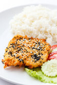 Sesame fried fish — Stock Photo