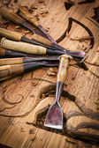 Tools of the woodcarver — Stock Photo