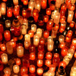 Many burning candles in graveyard at night — Stock Photo #13451317
