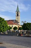 Christian church in the town centre — Stock Photo