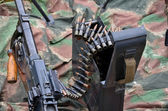 World war 2 machine gun in close view — Stock Photo