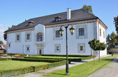 BYTCA, SLOVAKIA - SEPTEMBER 2013: Restored renaissance building - Wedding Palace. — Stock Photo