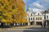 Historical town square in autumn, Zilina, Slovakia — Stock Photo