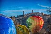Inflating Hot Air Balloons — Stock Photo