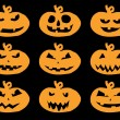 Set of Halloween pumpkins — Stock Vector #12642243