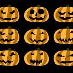 Set of vector Halloween pumpkin — Stock Vector #12642253