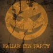 Halloween theme party poster — Stock Vector