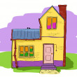 Stock Vector: Cute house