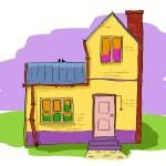 bonita casa — Vector de stock