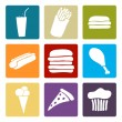 Royalty-Free Stock Vectorafbeeldingen: Fast food set