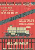 Ferrocarril retro — Vector de stock
