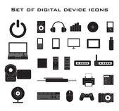 Electronic set — Stock Vector