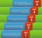 Steg för steg — Stockvektor