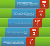 Step by step — Vector de stock
