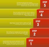 ステップ バイ ステップの概念 — ストックベクタ