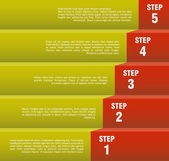 Schritt-für-schritt-konzept — Stockvektor