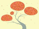 Осеннее дерево — Cтоковый вектор