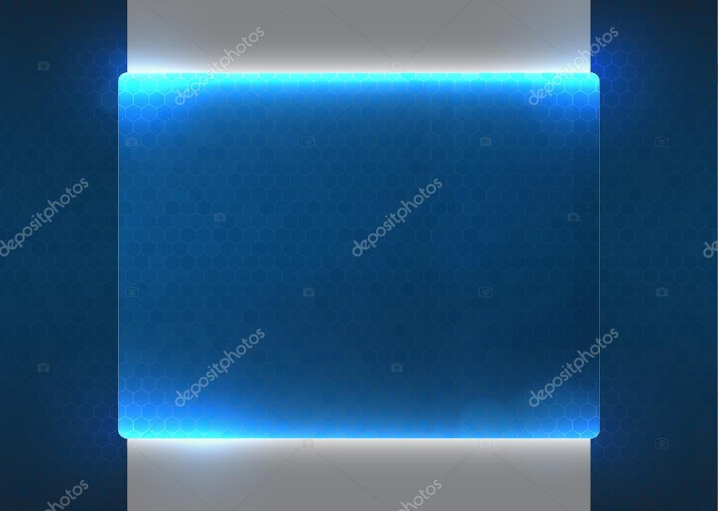 Futuristic holographic blue screen background, EPS10 vector. — Stock Vector #13472597
