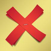 Czerwony Krzyż — Wektor stockowy