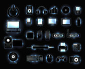 Digital icons set — Stock Vector