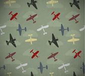 Retro uçaklar — Stok Vektör
