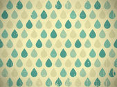 Retro raindrops — Stock Vector