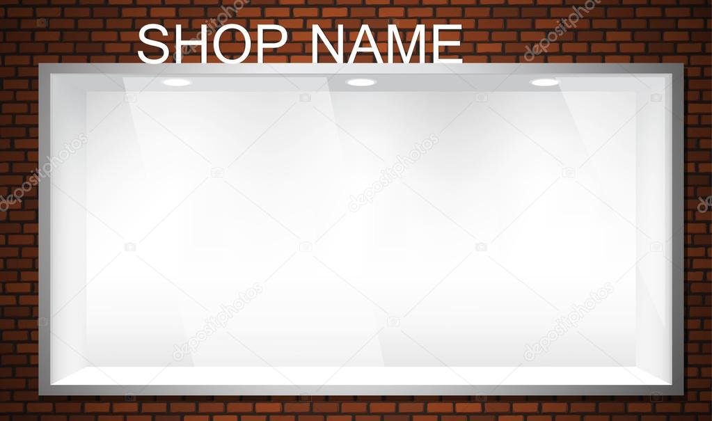 Empty shop window showcase. EPS10 vector storefront. — Stock Vector #14244455