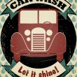 Retro car wash - Stock Vector