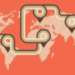 Retro map background — Stock Vector #19477215