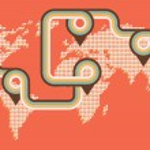 Retro map background — Stock Vector