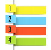 折纸标签 — 图库矢量图片