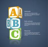 Alphabet cubes — Stock Vector