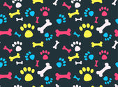 Pet footprints pattern — Stock Vector