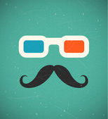 Hipster 3d cinema — Stock Vector
