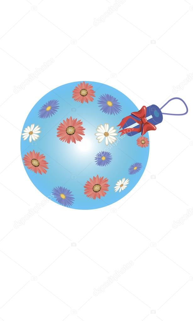 Christmas ball Blue — Stock Vector #13192376