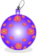 Purple Christmas ball — Stock Vector