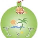 Green Christmas ball — Stock Vector #16365035