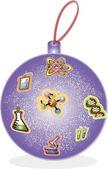 Purple Christmas ball — Stock Vector