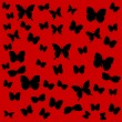 Royalty-Free Stock Vector Image: Butterflies on a red background