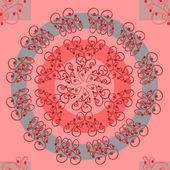 Сложный узор на светло-красном фоне — Cтоковый вектор